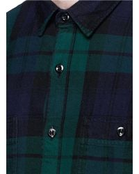 J.Crew | Multicolor Herringbone Flannel Shirt In Black Watch Plaid for Men | Lyst