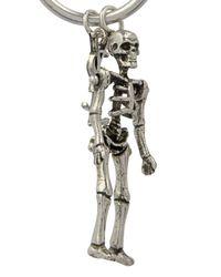 Saint Laurent - Metallic Punk Skeleton Earrings - Lyst