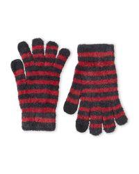 Steve Madden - Gray Varigated Stripe Gloves - Lyst