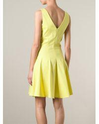 P.A.R.O.S.H. - Yellow 'Ciquet' Dress - Lyst
