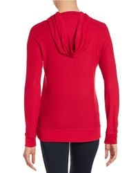 MICHAEL Michael Kors | Red Embellished Hooded Shirt | Lyst