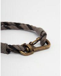 ASOS - Rope Bracelet In Gray for Men - Lyst