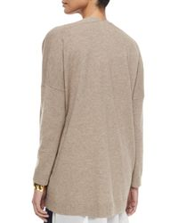 Eileen Fisher | Natural Kimono Boxy Cashmere Cardigan | Lyst