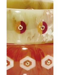 Mark Davis | Multicolor Set Of 2 Spessartite Garnet And Yellow Sapphire Bakelite Bangles | Lyst