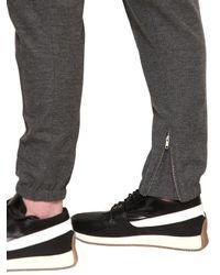 Kris Van Assche - Gray Cottonwool Melange Jersey Trousers for Men - Lyst