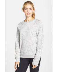 Rebecca Minkoff - Gray 'ana' Logo Print Sweatshirt - Lyst