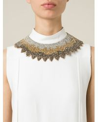 Valentino   Brown Crystal Necklace   Lyst