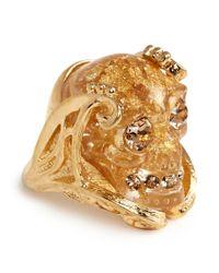 Alexander McQueen   Metallic Plexiglas Skull Ring   Lyst