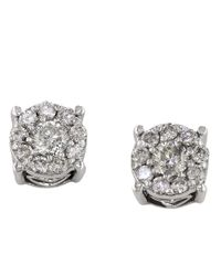 Effy | Metallic Bouquet Diamond And 14k White Gold Stud Earrings | Lyst