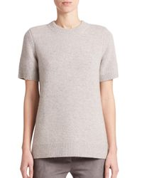 Michael Kors | Gray Cashmere Sweater Top | Lyst