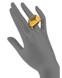 Kenneth Jay Lane | Metallic Geometric Statement Ring | Lyst