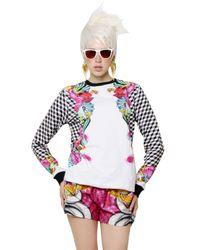 Manish Arora - White Printed Cotton Fleece Sweatshirt - Lyst