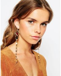 ASOS - Metallic Disco Drop Earrings - Lyst