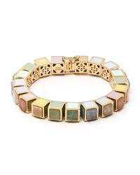 Eddie Borgo - Metallic Multi-stone Cube Bracelet - Lyst