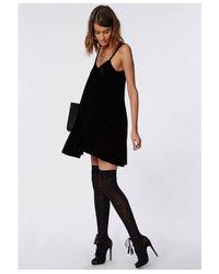 Missguided - Nichola Stud Over The Knee Socks Black - Lyst