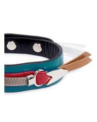 Toga - Multicolor Colourblock Leather Bracelet - Lyst