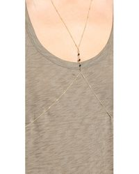 Vanessa Mooney - Metallic The Petite Body Chain - Black/gold - Lyst