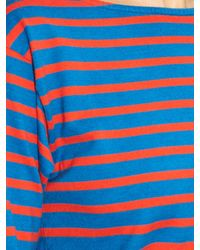 Saint Laurent | Blue Breton-stripe Cotton-jersey Top | Lyst