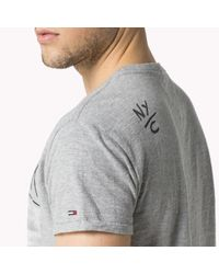 Tommy Hilfiger - Gray Cotton T-shirt for Men - Lyst