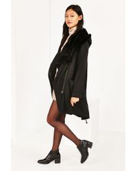 Silence + Noise - Black Jacquie Sherpa Parka Jacket - Lyst