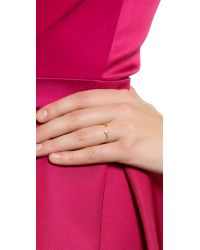 Tai - Metallic Open Cuff Ring - Clear/gold - Lyst
