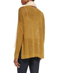 Eileen Fisher - Natural Airy Linen Box Top - Lyst