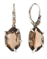 Alexis Bittar Fine | Metallic Fancy Smoky Quartz & Diamond Drop Earrings | Lyst