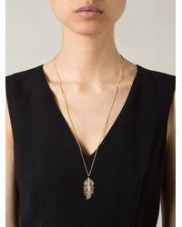 Wouters & Hendrix | Blue Filigree Leaf Pendant Necklace | Lyst