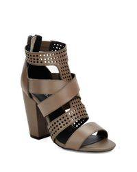 Kelsi Dagger Brooklyn | Gray Ballard Perforated Leather Sandals | Lyst