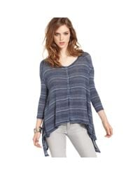 Free People | Blue Striped Top | Lyst