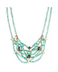 Alexis Bittar - Blue Multi-strand Beaded Stone Bib Necklace - Lyst