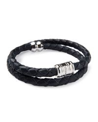 Miansai | Black Men's Woven Leather Bracelet for Men | Lyst