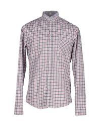 Aglini - Gray Shirt for Men - Lyst