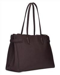 Jaeger - Purple Maddison Double Zip Bag - Lyst