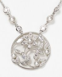 Nadri - Metallic Romancing Drop Pendant Necklace 17 - Lyst