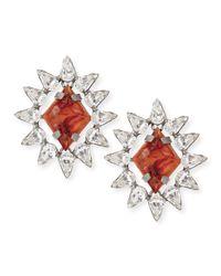 DANNIJO - Metallic Neva Crystal Stud Earrings - Lyst