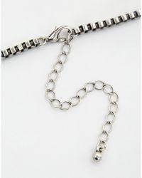 ASOS - Metallic Semi Precious Evil Eye Pendant Choker Necklace - Lyst
