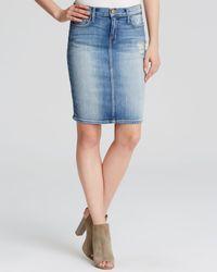 Current/Elliott | Blue Skirt - The Stiletto In Heirloom Repair | Lyst