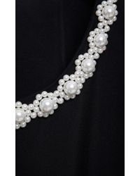 Simone Rocha - Black Pearl-Embellished Long Coat - Lyst