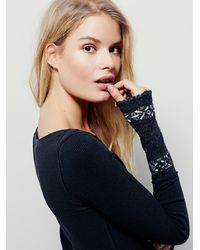 Free People | Black Wtf Rosey Cuff | Lyst