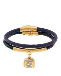 Henri Bendel - Blue Double Charm Bracelet Set - Lyst