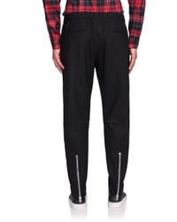 Givenchy - Black Wool Jogger Pants for Men - Lyst