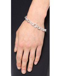 Ferragamo | Metallic Catena Chain Bracelet - Argento | Lyst
