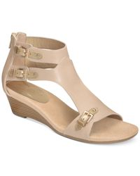 Aerosoles - Natural Yet Another Wedge Sandals - Lyst