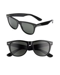 Ray-Ban | Black 'classic Wayfarer' 50mm Polarized Sunglasses for Men | Lyst