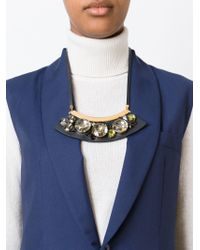 Marni - Black Embellished Necklace - Lyst
