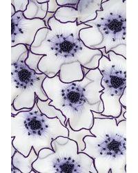Vanessa Bruno - Purple Mini Skirt With Embellished Floral Appliqu - Lyst