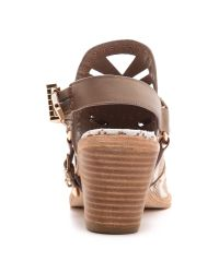 Ivy Kirzhner - Brown Aguila Haircalf Open Back Booties  - Lyst