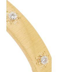 Buccellati | Metallic 18k Yellow Gold And Diamond Iconic Classica Bangle | Lyst
