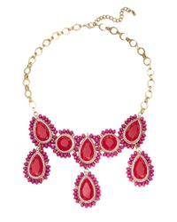 Catherine Stein | Red Beaded Gem Bib Necklace | Lyst